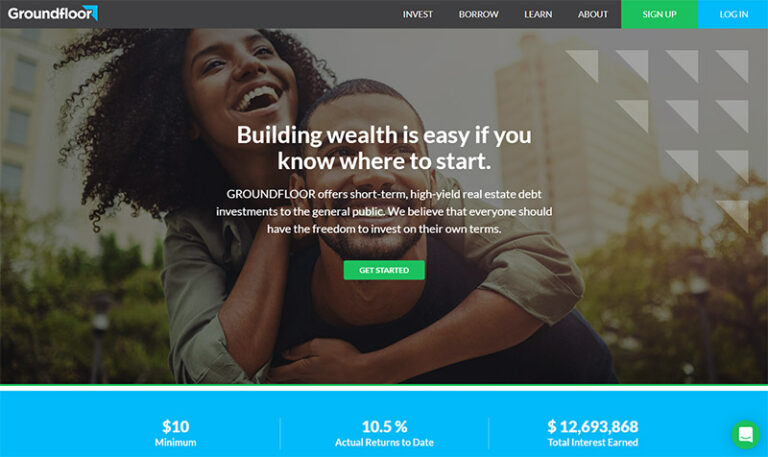 Groundfloor Review: Real Estate Investing Starting at $10